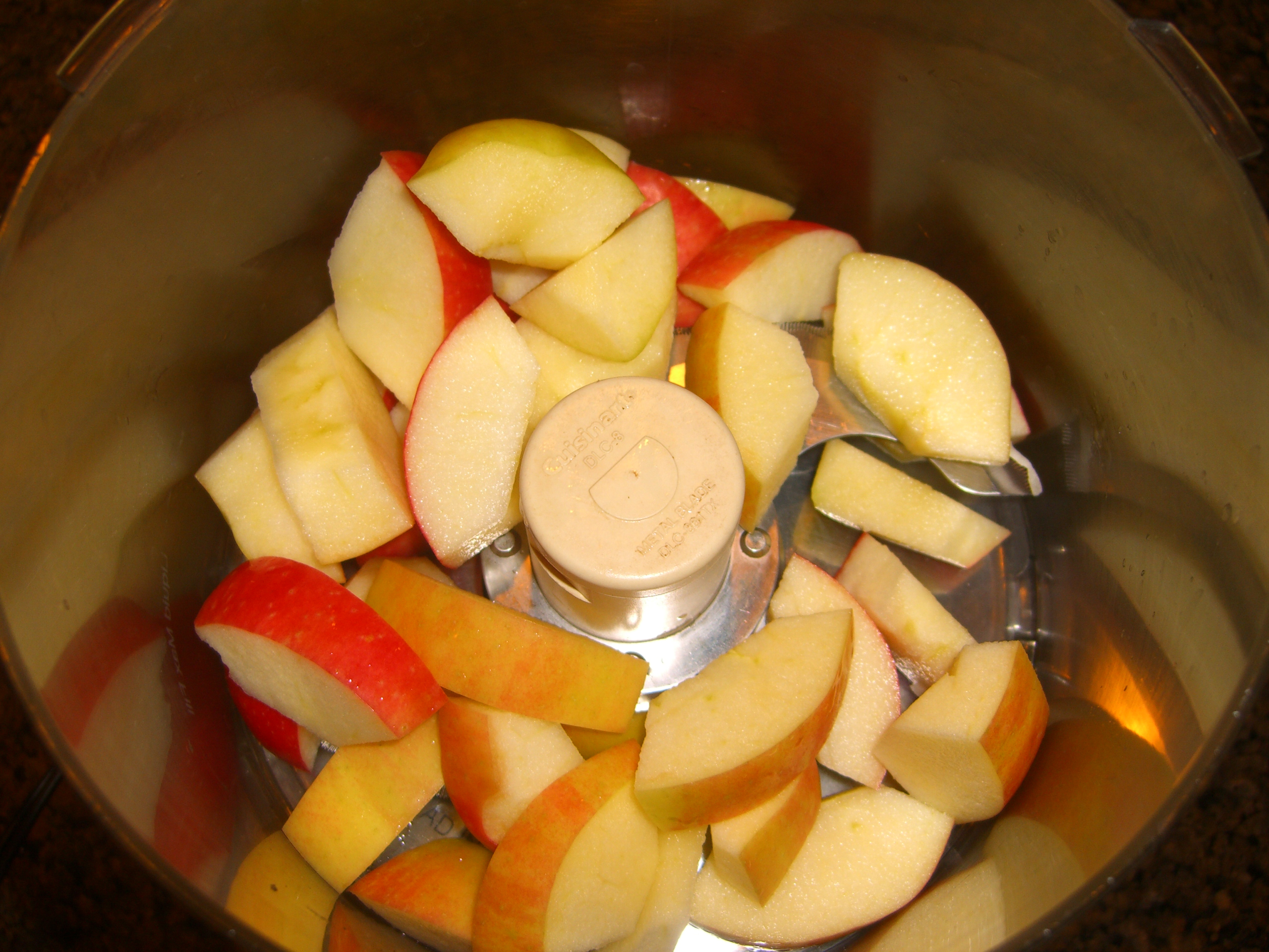 Put the Apples in the Food Processor