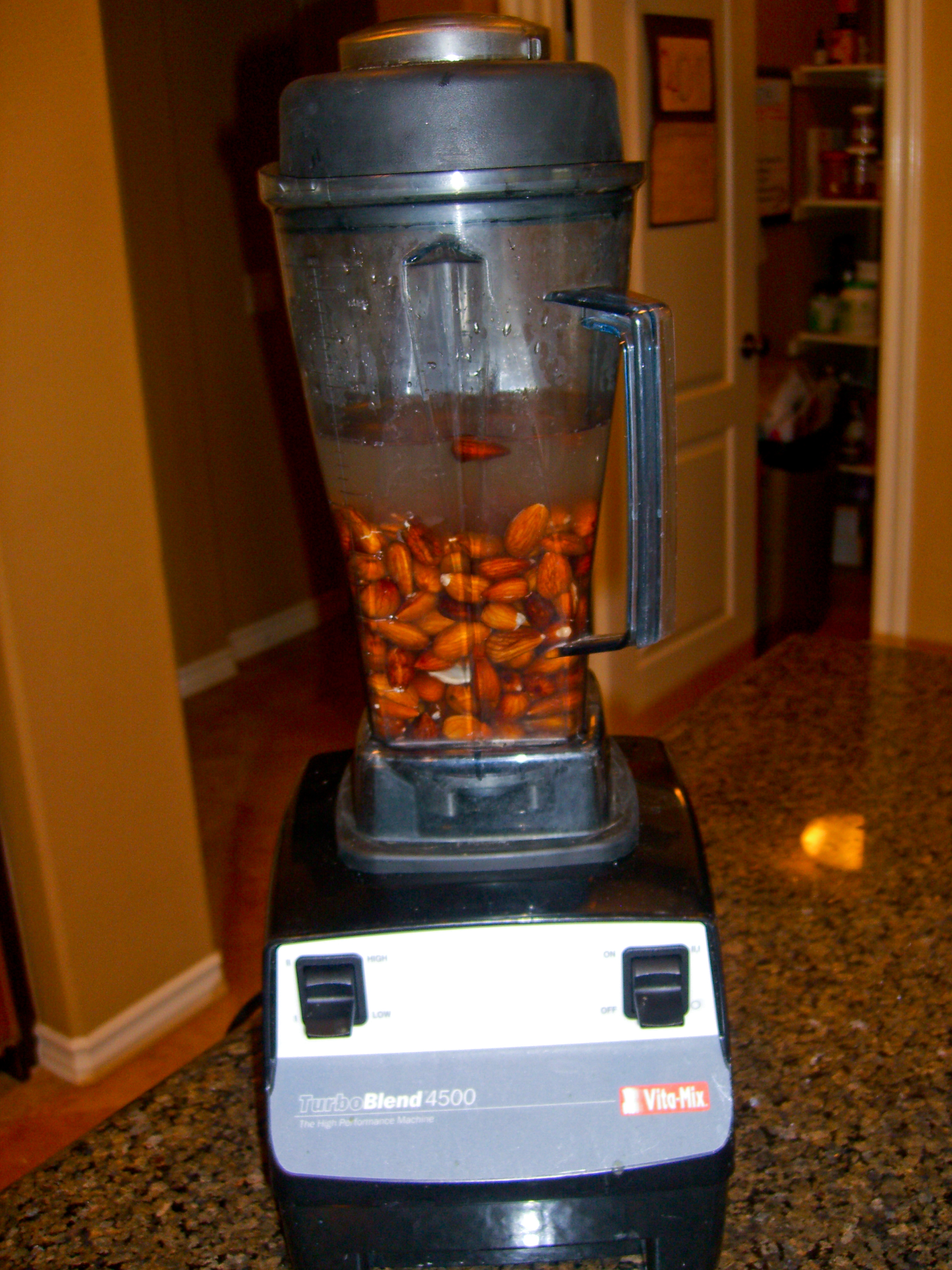 Place Rinsed Almonds in Vitamix w/ Water