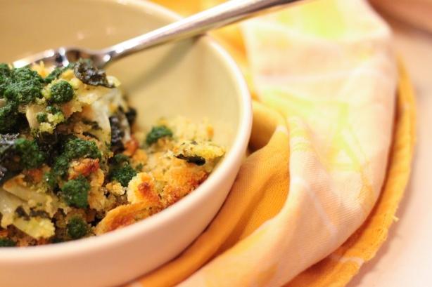 Kale Potato Gratin With Kale Pesto