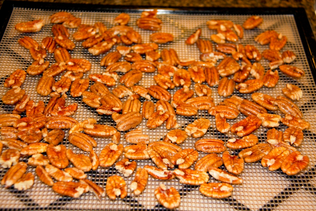 Place Pecans on Mesh Tray
