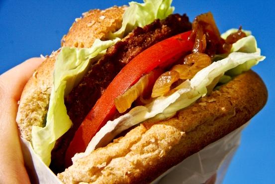 Quorn Vegan Burger Assembled 600