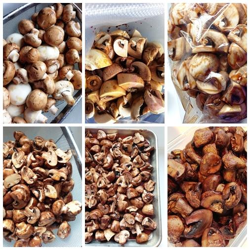 Roasted Mushroom Collage