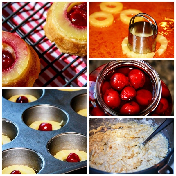 pineapple upside down cake collage 1