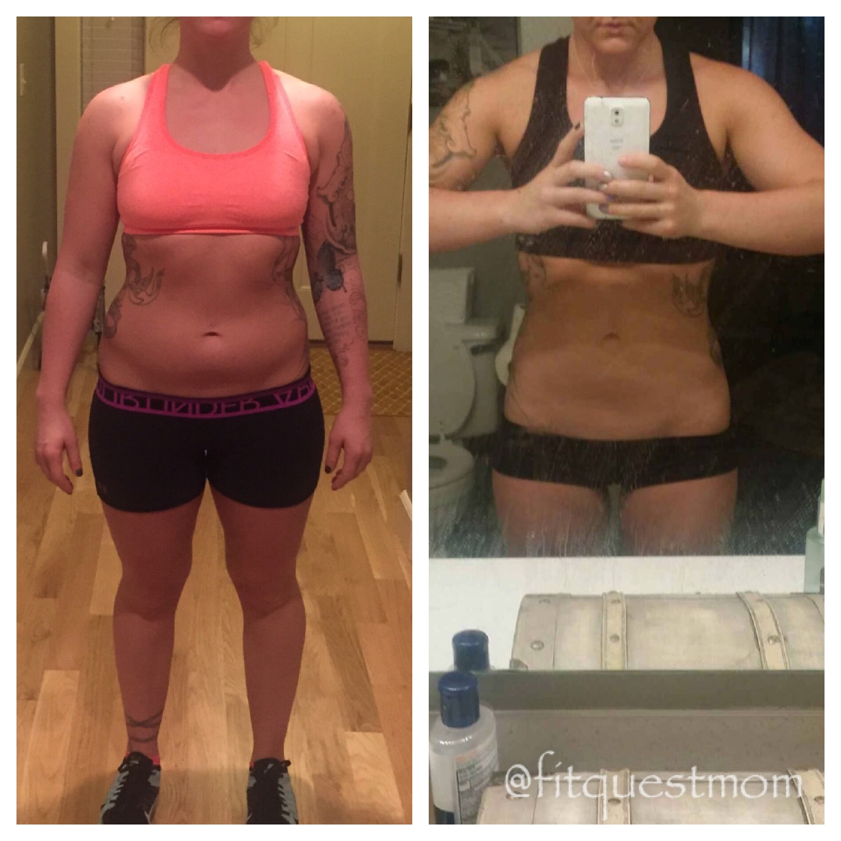 FitQuest Before and After IIFYM