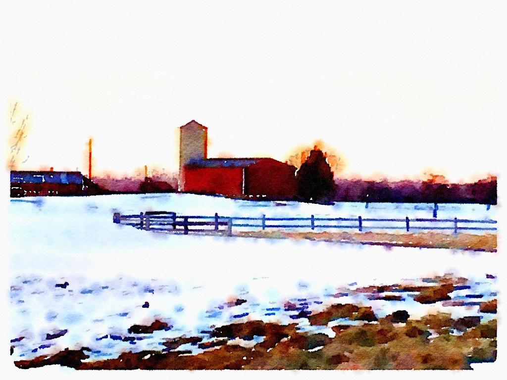 Idaho Barn Watercolor