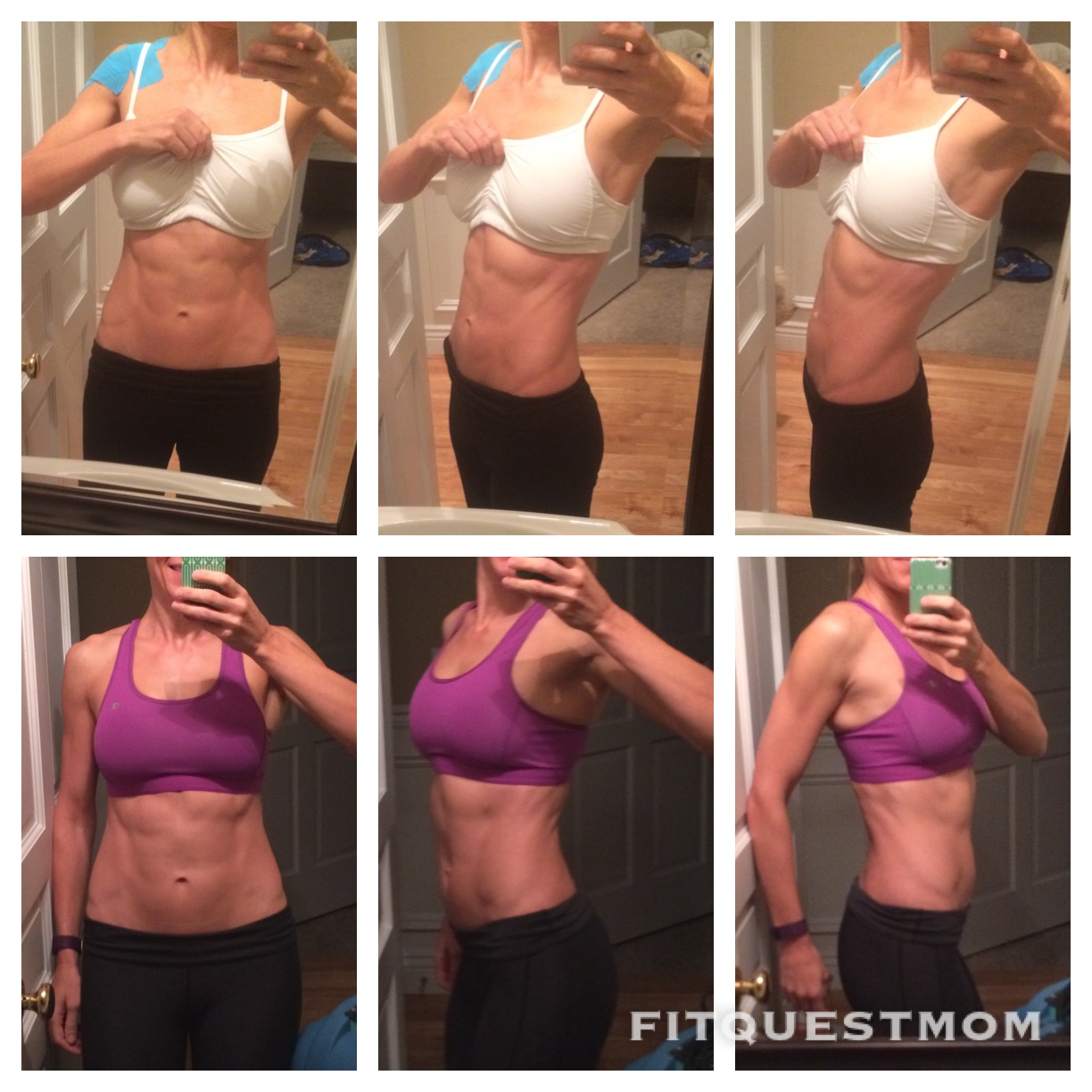 FitQuestMom before and after 10.23.14 vs. 10.20.15