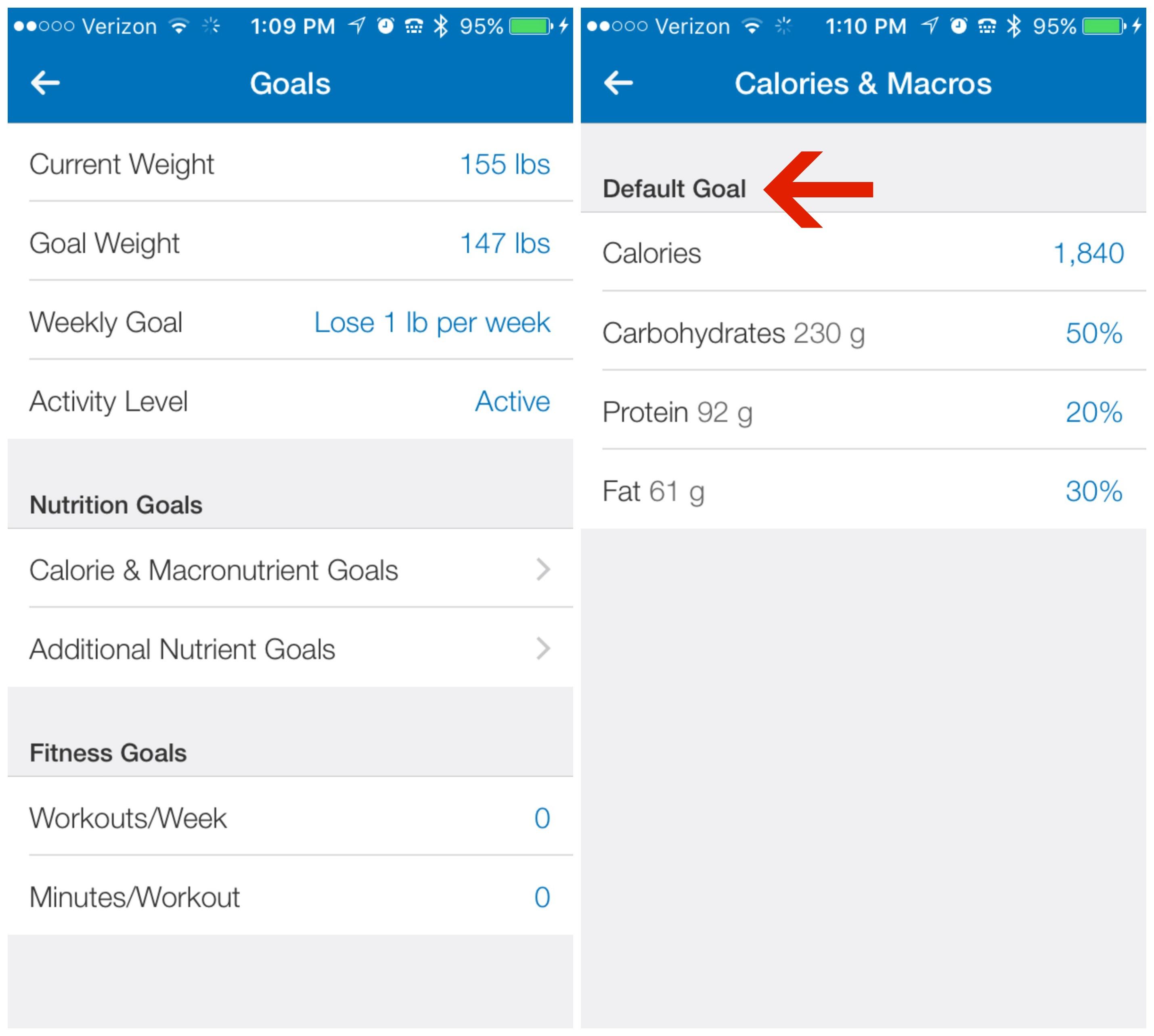 9.3 Goals to Cals and Macros