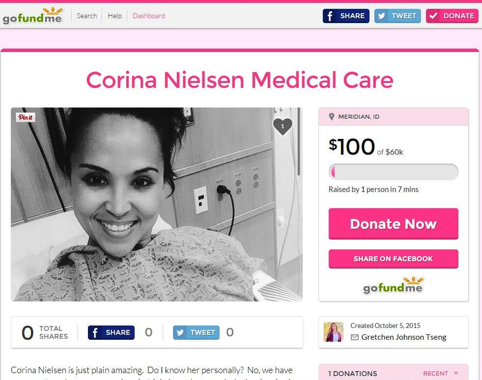 Corina Nielsen Go Fund Me